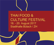 Thai Food & Culture Festival in Buelach / Stadthalle, from 18.8 to 20.8.2017