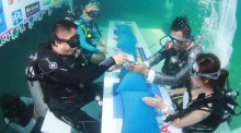 Trang Underwater Wedding Ceremony
