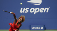rand Slam/ATP-Tour - US Open, Einzel, Damen, Viertelfinale, Pironkowa (Bulgarien) - Williams (USA): Serena Williams in Aktion. Foto: Seth Wenig/Ap/dpa