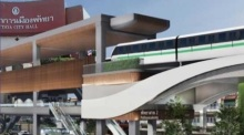 Architektenentwurf der Skytrain-Station an der Pattaya City Hall. Foto: We Love Pattaya