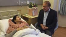Begum Kulsoom Nawaz (l.). Archivbild: Twitter/Screenshot