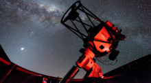 Das 1m-Teleskop des Observatoriums wird auch international zu Forschungszwecken genutzt. Gemessen wird hauptsächlich im sichtbaren Frequenzbereich des Lichtes. Foto: National Astronomical Research Institute Of Thailand (public Organization)