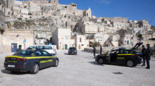 Polizei in Matera. Foto: epa/Tony Vece