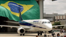 BRAZILIAN AIRCRAFT MAKER'S EMBRAER 190.photo: epa/CAETANO BARREIRA