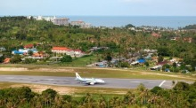 Start- und Landebahn auf dem Samui International Airport. Foto: The Thaiger