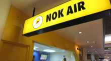 Nok-Air-Schalter am Don Mueang Airport in Bangkok. Archivbild: epa/Narong Sangnak