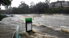Starker Regen in New South Wales. Foto: epa/Dan Himbrechts