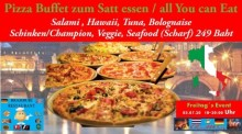 """All-You-Can-Eat""-Pizza-Buffet im Bramburi Restaurant für 249 Baht pro Person."