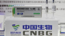 China National Biotech Group (CNBG) Chinesischer Pharmastand auf der 2020 China International Fair for Trade in Services (CIFTIS) in Peking. Foto: epa/Wu Hong