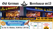 Oktoberfest im Old German Beerhouse on 13