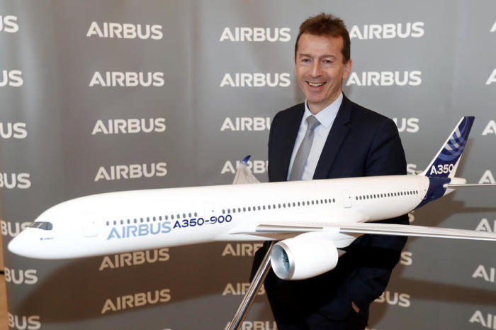 Präsident Guillaume Faury von Airbus Commercial Aircraft nimmt an der Airbus-Jahrespressekonferenz teil. Foto: epa/Guillaume Horcajuelo