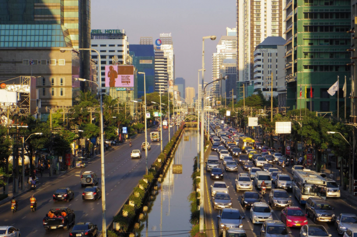 Verkehr in Sathorn. Foto: The Nation