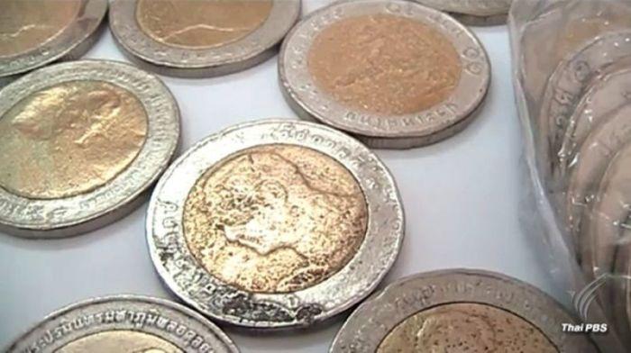 Warnung Vor Falschen 10 Baht Münzen Thailand