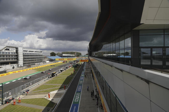 The Formula One Grand Prix at Silverstone. Photo: epa/Frank Augstein