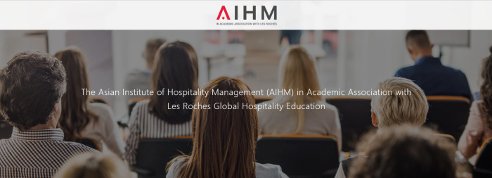 Screen: Asian Institute of Hospitality Management