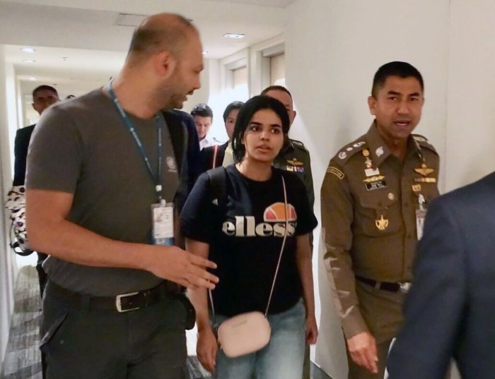 Rahaf Mohammed al-Qunun in Bangkok. Foto: The Nation