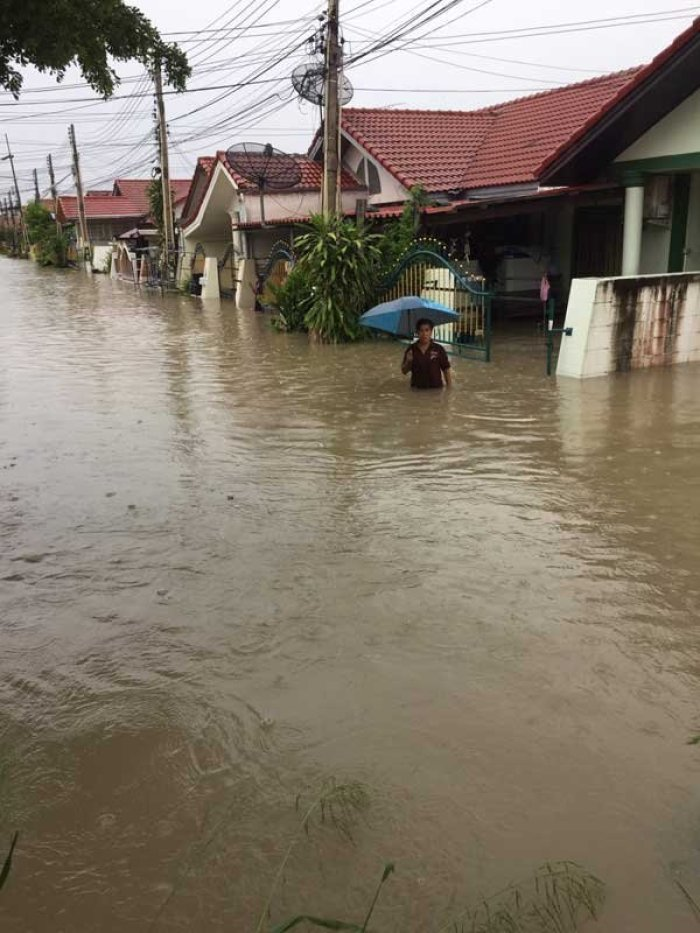 Land unter in Pattaya. Foto: Manager Online