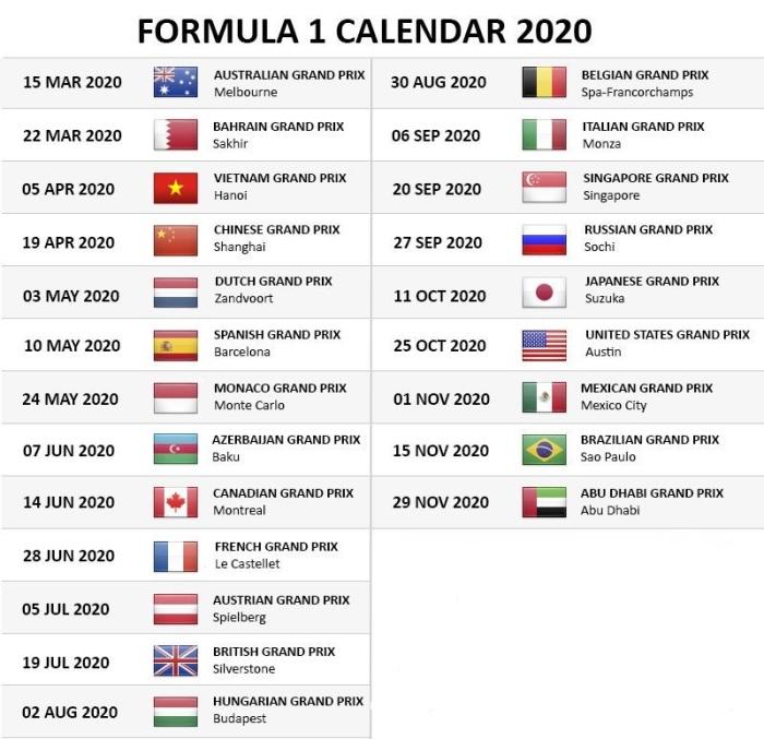 motogp 2020 kalender