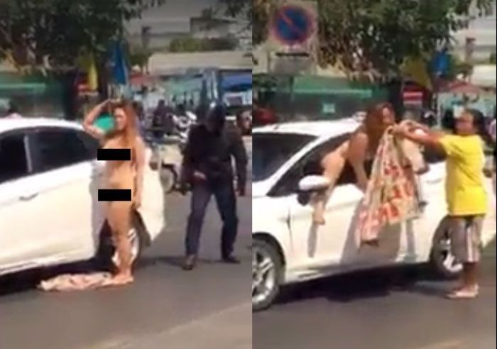 Frau tanzt nackt
