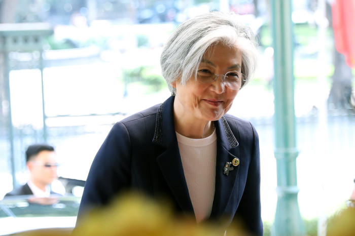 Südkoreas Außenministerin Kang Kyung Wha. Foto: epa/Luong Thai Linh