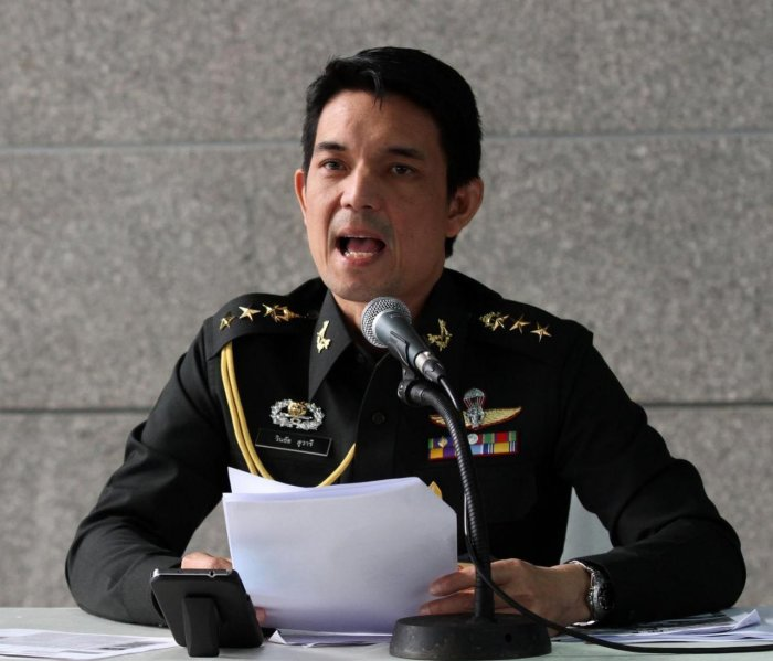 Armeesprecher Oberst Winthai Suwaree. Foto: The Nation
