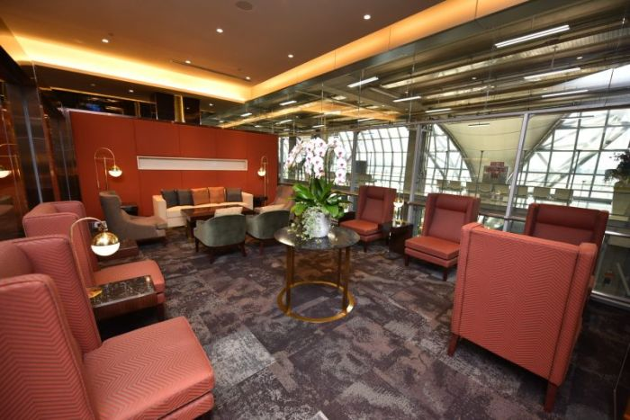 "Die neue ""Royal Orchid Prestige Lounge"" bietet gediegenen Luxus für Vielflieger und Passagiere der höheren Klassen von Thai Airways International. Foto: The Nation"