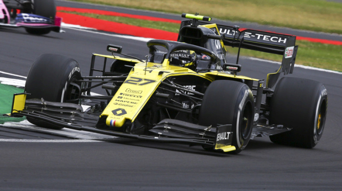 German Formula One driver Nico Hülkenberg of Renault in action during the Formula One Grand Prix of Great Britain at the Silverstone circuit. Foto: epa/Geoff Caddick