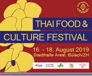 Thai Food & Culture Festival in Buelach / Stadthalle. Wir freuen uns